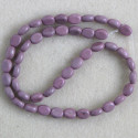 Dyed stone, oval beads, deep lilac.