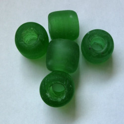 Chunky glass tube beads. Pack of 5