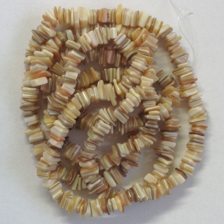 Heishi shell beads, natural colours.