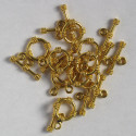 Gold coloured, toggle clasps, embossed with rope effect.