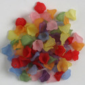 Little lily lucite flowers, mixed colours, 10g packs