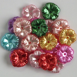 Rounded, flattened, pearlescent flowers, mixed colours. 10g