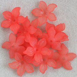 Large lucite flower, watermelon pink.