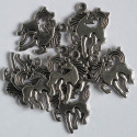 Galloping pony charm, pack of 8.