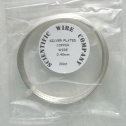 Silver plated copper wire, 0.4mm diameter. 20m length
