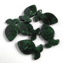 Green acrylic fish. Pack of 10