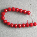 10 mm coated red glass beads.
