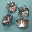 Glass snowflake mini pendant. Pack of 4.