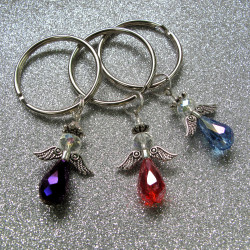 Pack of 3 guardian angel key rings