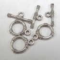 Bali style toggle clasp. Pack of 10 SETs