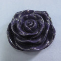 Large purple flower bead