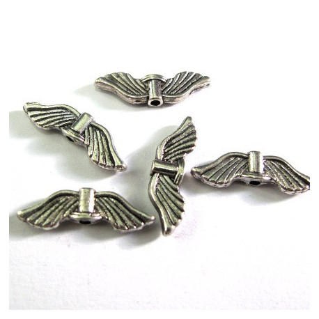 Angel wings, ribbed design. Pack of 10