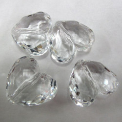 Clear acrylic large heart bead. Pk of 4