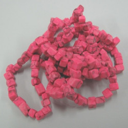 Pink tumble chip beads. Long strand