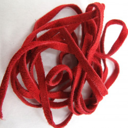 Red suede, approx 2m