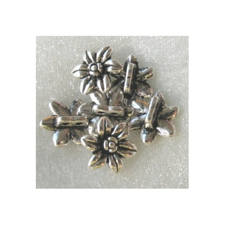F4444 - 2 Holed Daisy Bead, Approx 15mm.  pack of 10.