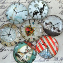 Clock face glass cabs 25mm. Pk of 5