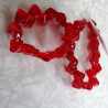 SIL003 - Strand of 2 hole Silky beads, red