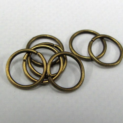 10mm brass colour jump rings. Pack of 500