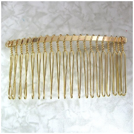 Gold colour hair combs. Pack of 2
