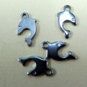 Stainless steel dolphin charms. Pack of 4