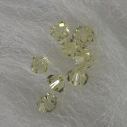 Swarovski 5301 4mm bi-cone, jonquil yellow.