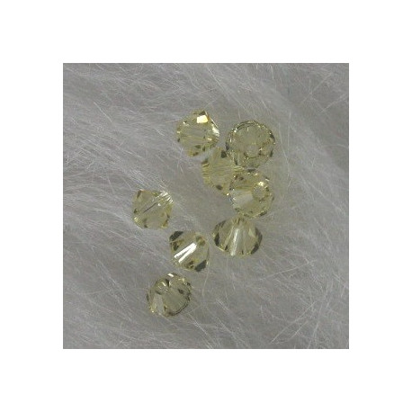 SW1016 - Swarovski 5301 4mm Bicone, Jonquil Yellow.