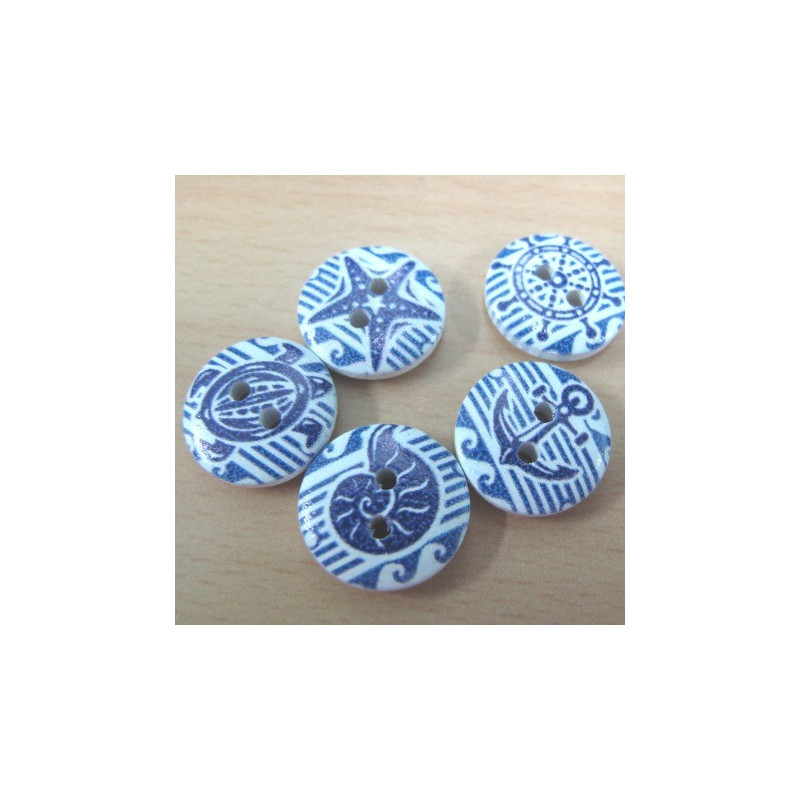 Art Décor: Blue And White Nautical Buttons