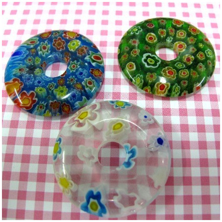 Millefiore donuts, pack of 3 mixed.