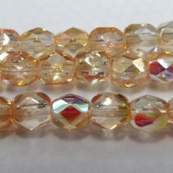 4mm fire polished in crystal yellow rainbow colour
