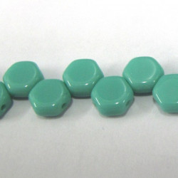 Honeycomb beads in a opaque turquoise