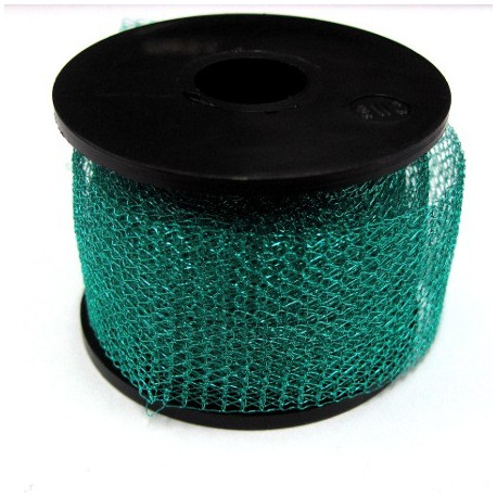 Knitted craft wire, 15m x 1m green