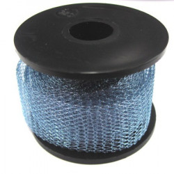 Knitted craft wire, 15m x 1m blue