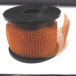 Knitted craft wire, 15m x 1m light gold