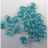 Mid blue lustre transluscent SuperDuos by Matubo. 10g