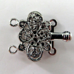 Clasp for 2 strands, filigree style