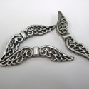 Large angel wing beads. Pack of 6