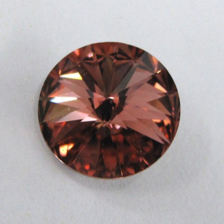 Swarovski Rivoli 12mm in dark rose