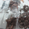 Pack of 10 packs of mixed charms/beads in antique copper colour