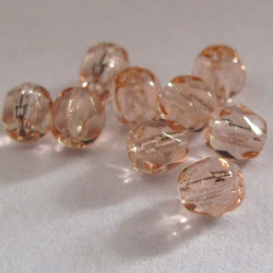 Rosaline pink 4mm Czech fire polished beads 50g pack