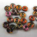 O beads in magic copper colour, pack of 5g