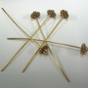 Fancy gold colour headpin, pack of 30