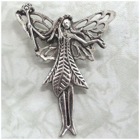 Fairy pendants pack of two large fairy pendant antique silver colour per pair aloadofball