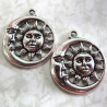 Sun and moon pendant, pack of 2