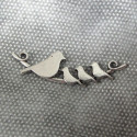 Birds on a twig pendant. Pack of 2