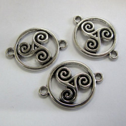 Celtic swirl connectors. Pack of 4