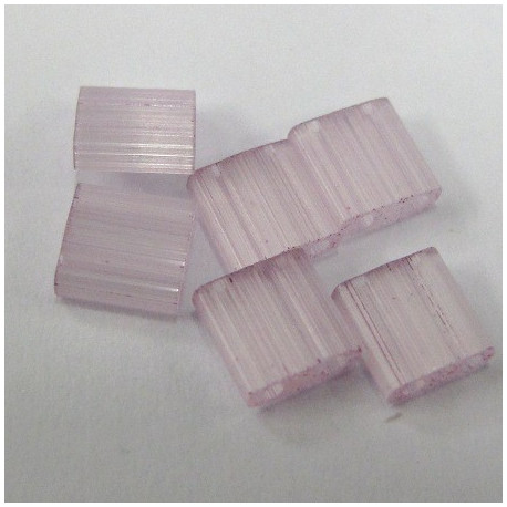 Tila bead, silk pale pinky lavender, tube of 7.2gm