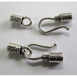 Hook and eye clasp, pack of 2 sets