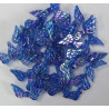 Pack of 100 mid blue AB angel wing beads