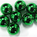 Christmas green bauble beads